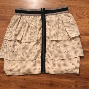 BCBG Generation tiered mini skirt